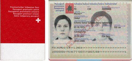 Provisorischer Pass