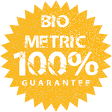 "frphoto ""100% Biometric"" Guarantee Seal"