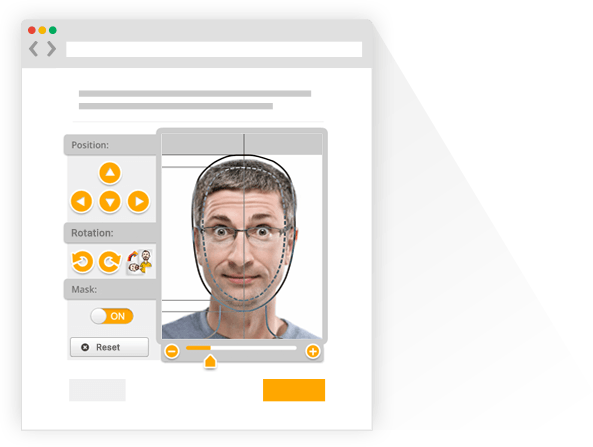 frphoto's Online Passport Photo Generator for creating biometric passport pictures